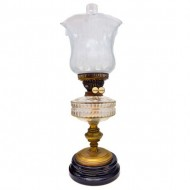 Duplex Double Burner Clear Class Font Brass and Pottery Based Kerosene Light. Click for more information...