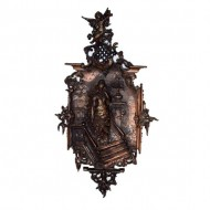Bronzed Cast Iron Victorian Wall Plaque. Click for more information...