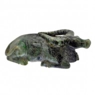 Chinese Carved Prase Buffalo. Click for more information...