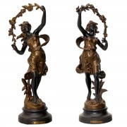Pair of Par Guillemin Spelters. Click for more information...