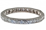 Art Deco Platinum & 30 Diamonds Band. Click for more information...