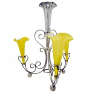 Art Nouveau EPNS and Art Glass Epergne. Click for more information...
