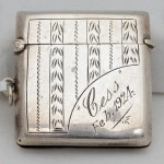 Sterling Silver Match Vesta. Click for more information...