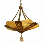 Original Art Deco Slip Shade Ceiling Light. Click for more information...