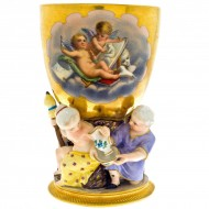 Berlin Porcelain Goblet Gilded and Hand Painted. Click for more information...