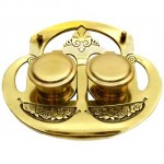Brass Art Nouveau Inkwell.. Click for more information...