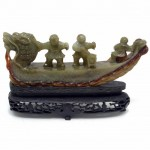 Bowenite Hand Carved Dragon Boat. Click for more information...