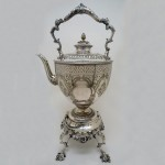Victorian Silver Plate Spirit Kettle. Click for more information...