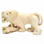 Ivory Tiger and Cub. Click for more information...
