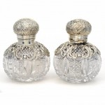 Pair of Sterling Silver Perfume Bottles. Click for more information...