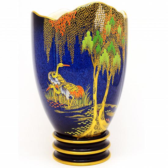 Lynzay Antiques Pottery Porcelain Carlton Ware Vase New Stork