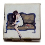 Art Deco Enameled Compact Signed P Sutton. Click for more information...